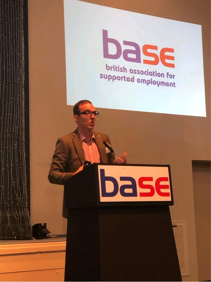 Matt presenting at the 2019 BASE conference