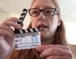 Gill uses clapperboard to start her June Blog