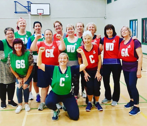 Gill with her netball group