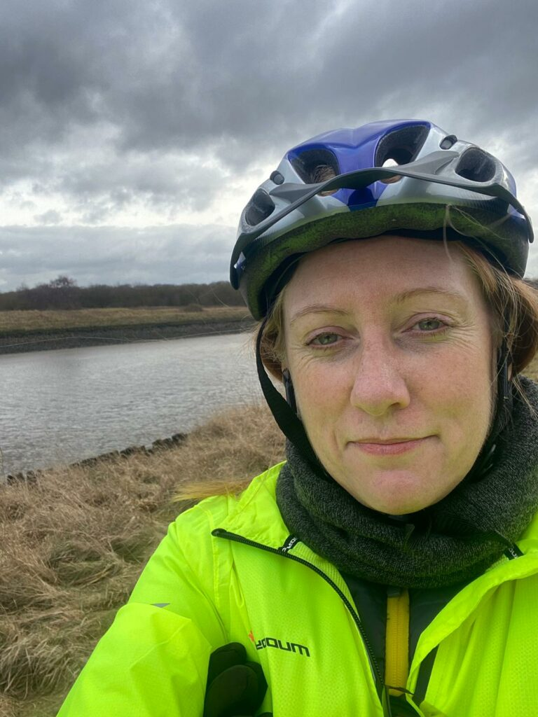 Gill on a cycle training
