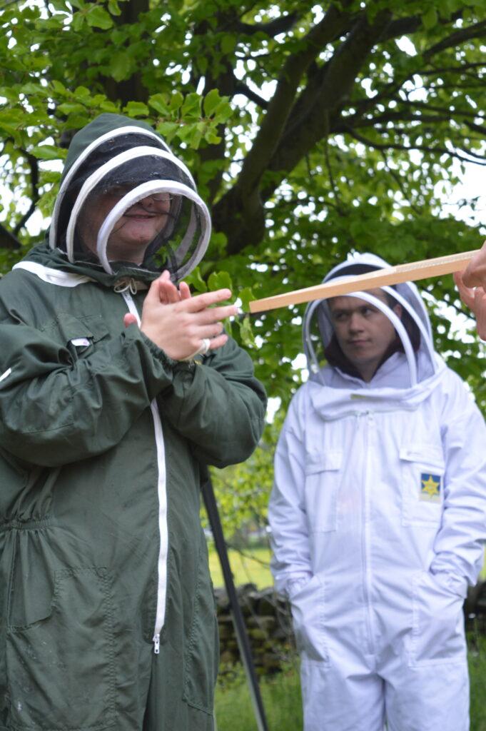 Byran learning to Beekeep